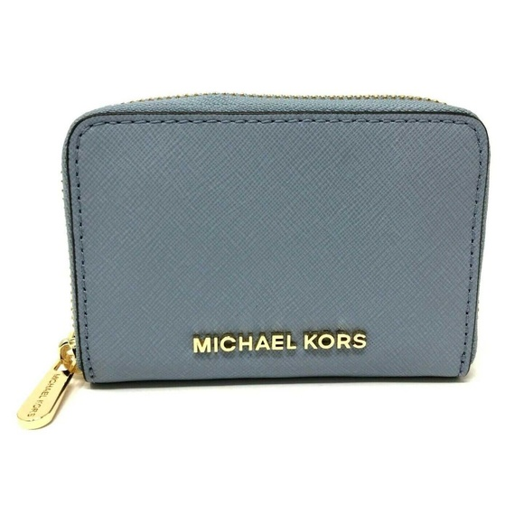 02df6c29b838 Michael Kors Bags | Jet Set Travel Zip Around Blue Wallet | Poshmark
